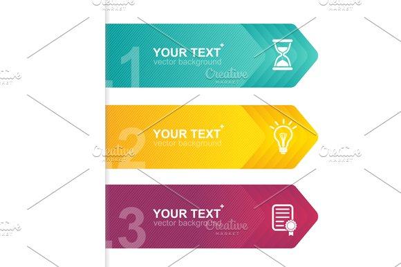 Arrow Templates for Text. Vector - Illustrations