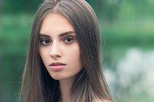 portrait of beautiful girl close-up