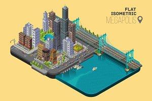 Isometric Vector Megapolis