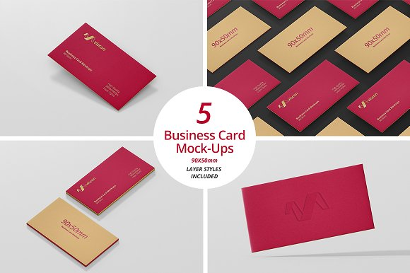 Download Business Card Mock-Ups 90x50