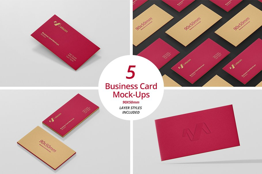 Business Card Mock-Ups 90x50