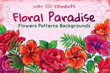 Rose, Hibiscus, Lotus: floral Bundle