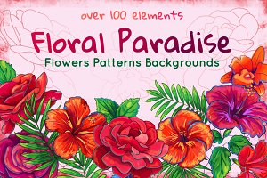 Rose, Hibiscus, Lotus: floral Bundle