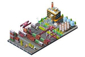 Train service warehouse.