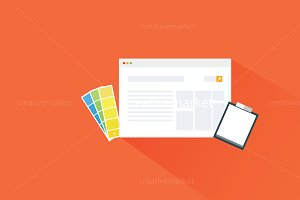 Flat Web Advertising Design