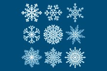 Christmas Snowflakes Set. Vector.