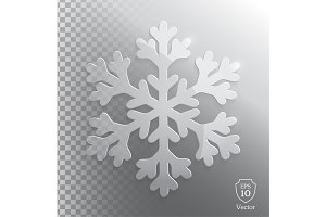 Glass transparent snowflake. Vector.
