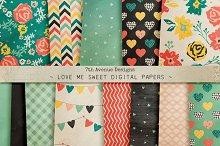 Love Me Sweet Digital Papers