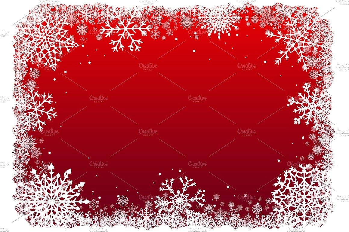 Christmas Snowflakes Frames Set Illustrations