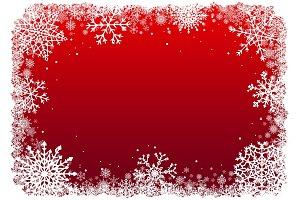 Christmas Snowflakes Frames Set.