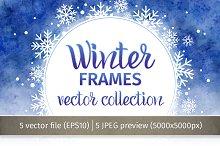 Winter frames. Vector collection