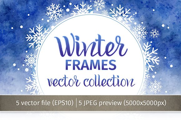 winter frames vector collection objects - Winter Frames