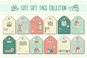 Cute gift tags collection