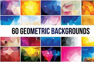 60 Abstract Geometric Backgrounds
