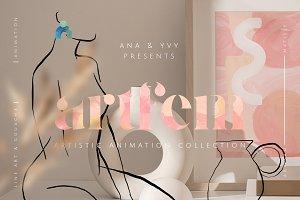 Animated gouache & line art bundle