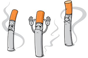 Cartoon cigarette characters