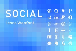 (SALE) Simple Social Icons Web Font