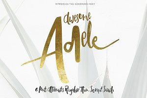 Adele 6 Fonts (70% off)