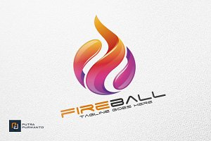 Fireball / Fire / Flame - Logo
