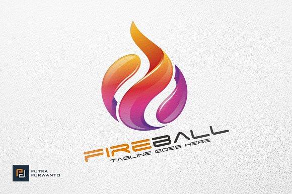 fireball fire flame logo logo templates creative market