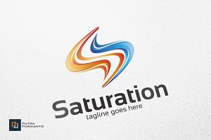 Saturation / S Letter - Logo