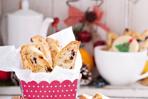 Biscotti with dried fruits and nuts