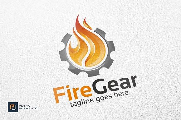 fire gear logo template logo templates creative market