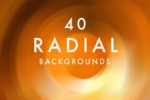 (SALE) 40 Radial Backgrounds
