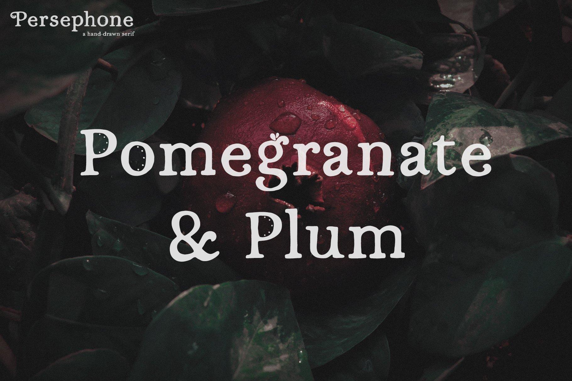 Шрифт – Persephone