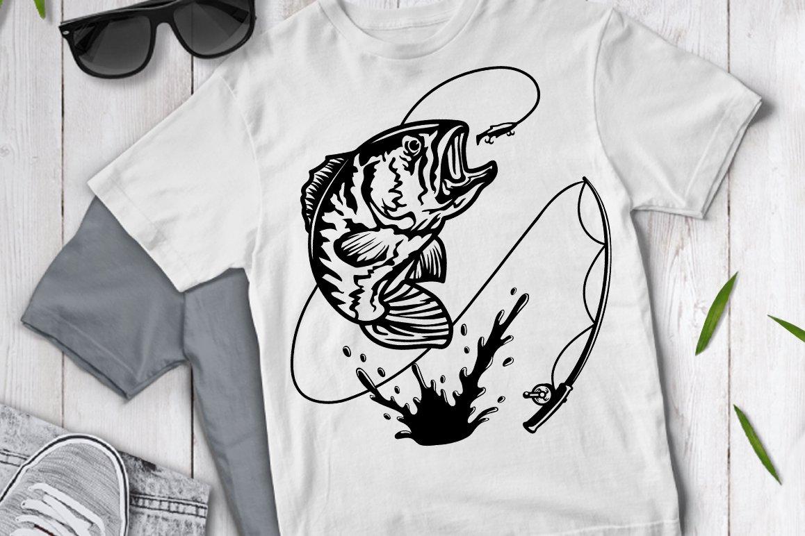 Download Fishing Svg Bass Fishing Svg Pre Designed Photoshop Graphics Creative Market