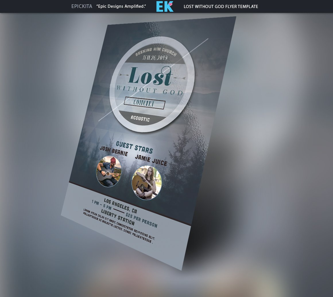 Lost without God Flyer Template ~ Flyer Templates ~ Creative Market
