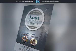 Lost without God Flyer Template