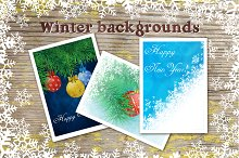 Winter backgrounds set