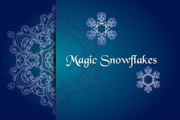 №62 Magic snowflakes