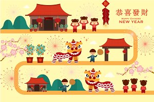 chinese lunar new year vector