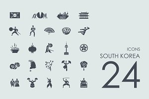 24 South Korea icons