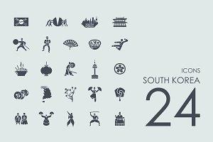 24 South Korea icons