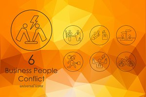 6 business people conflict icon