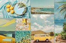 Summer Blues Yellow Pop