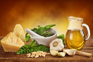 Genovese pesto ingredients