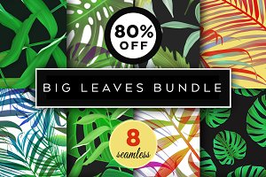 8 Best Botanical Leaves Patterns Set