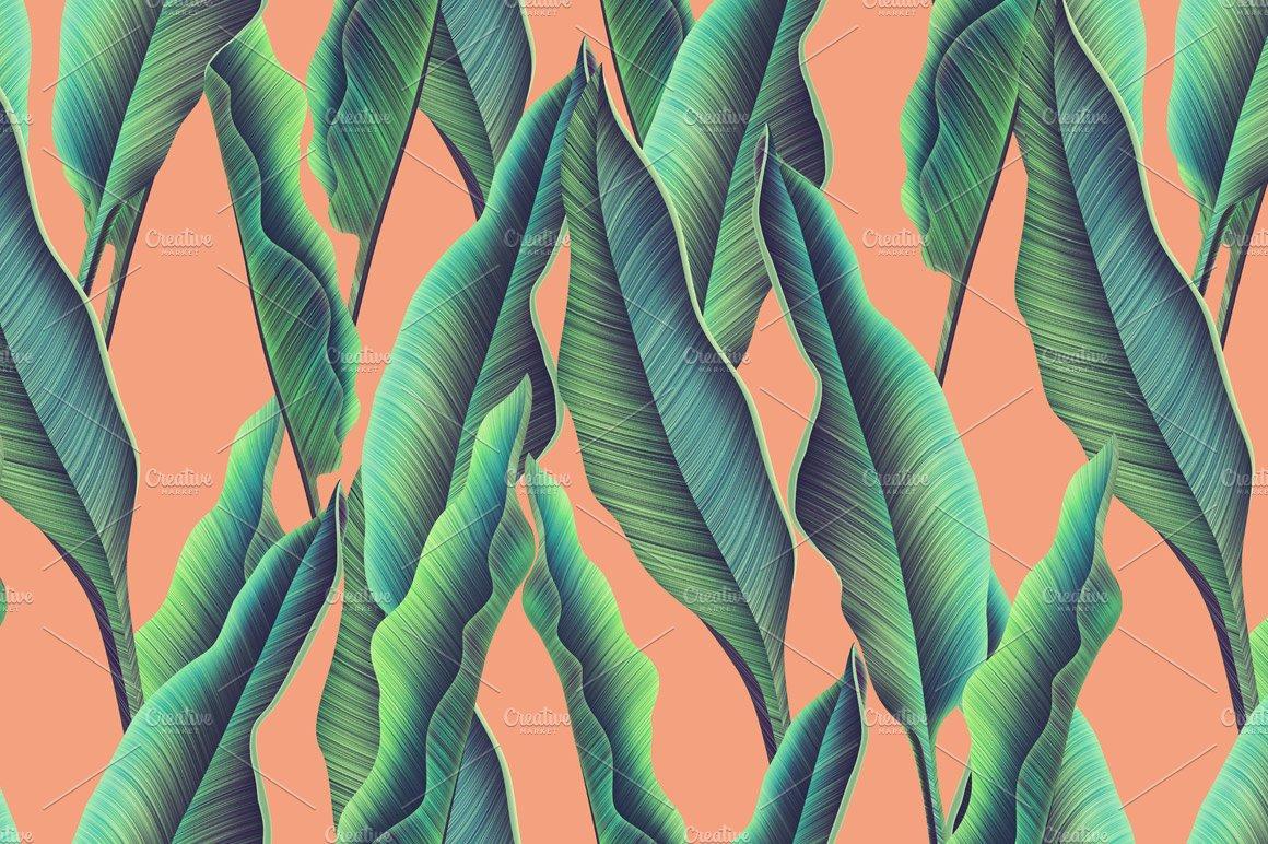 Jungle Palm Leaves Patterns Creative Market