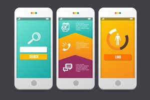 Applications Templates. Web. Vector