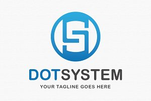 Dot System Logo Template