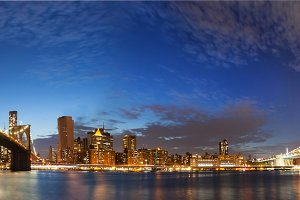 New York City Manhattan skyline pano