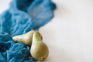 Styled stock image Blue Pear