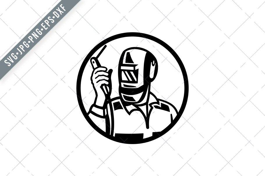 Welder Worker Welding Torch Svg Pre Designed Illustrator Graphics Creative Market