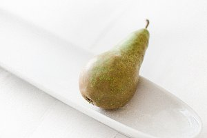 Styled stock photo Simple pear