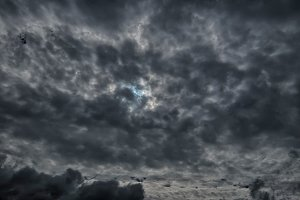 Dramatic cloudy sky