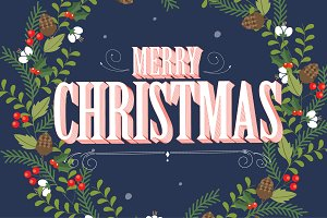 christmas garland background vector